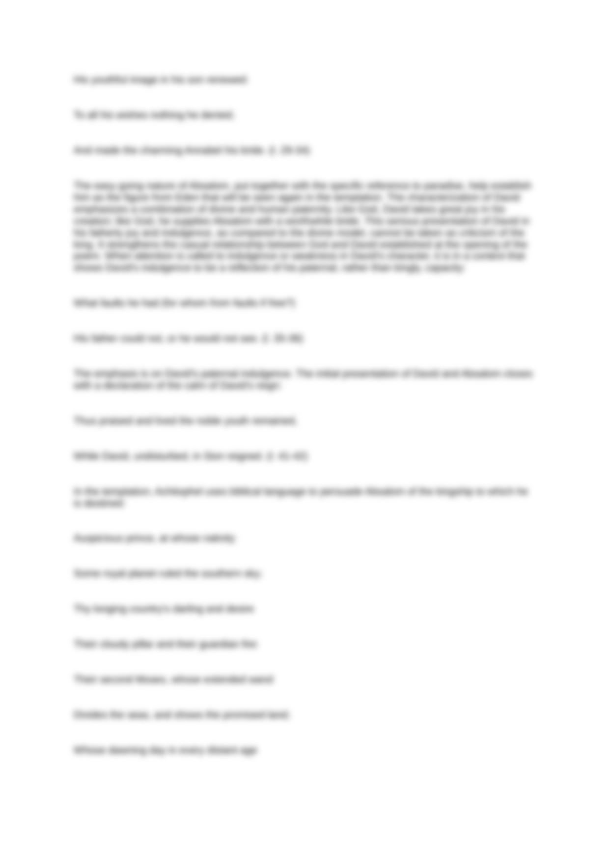 Essay test responses