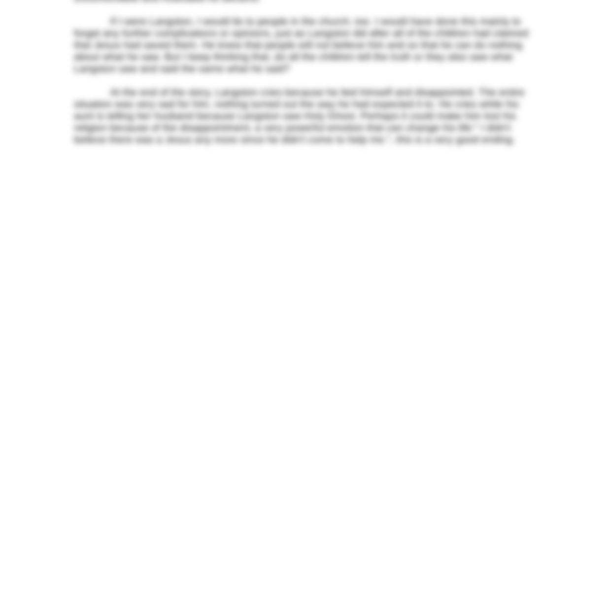salvation experience essay