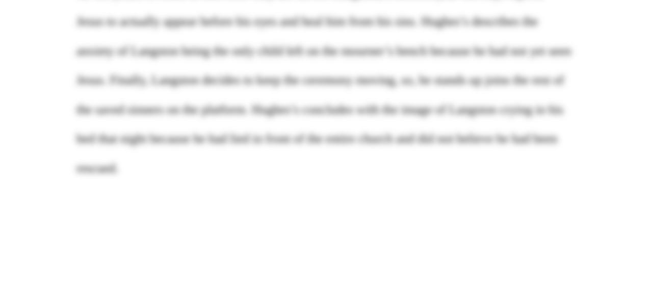 langston hughes research paper topics