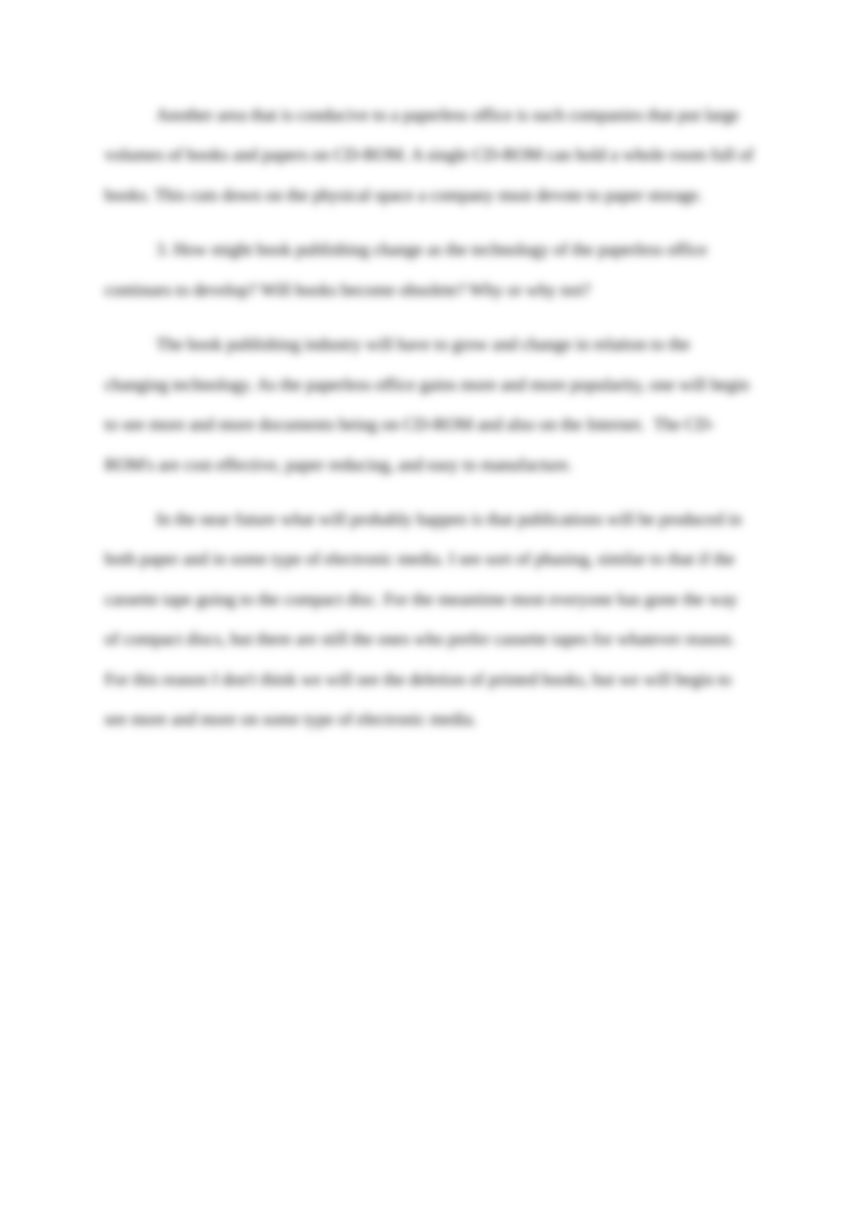 Essay on paperless office postpartum research paper