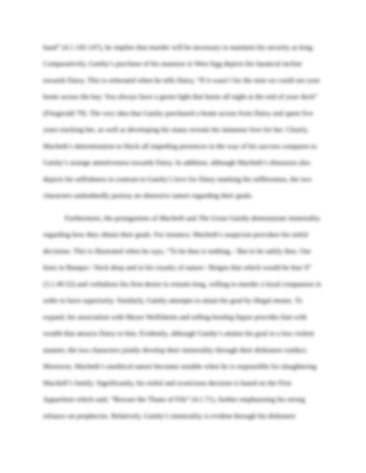 comparison essay macbeth great gatsby