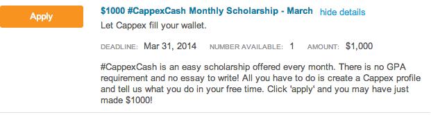 no essay scholarship college