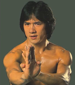 jackie chan hands up