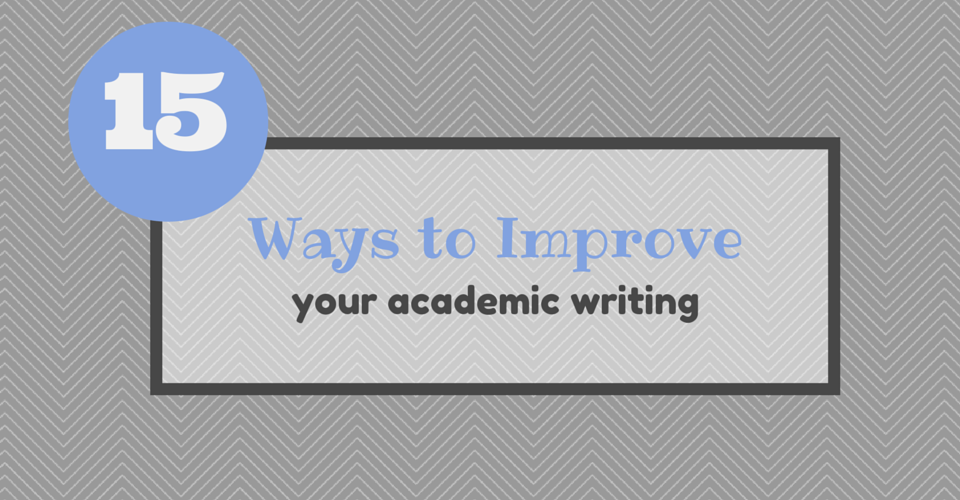 how to improve your academic writing pdf