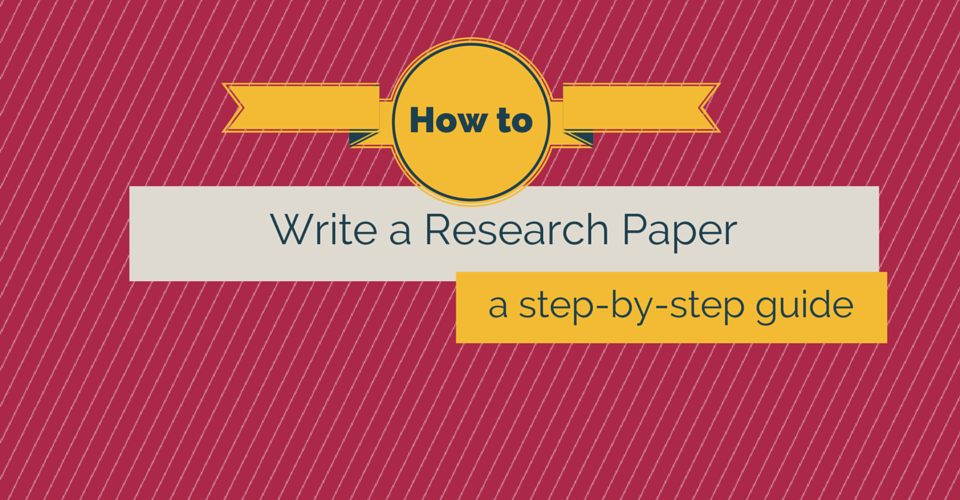 how to write a reserch paper