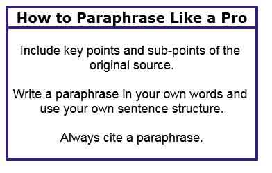 Paraphrase Quotes for Essays