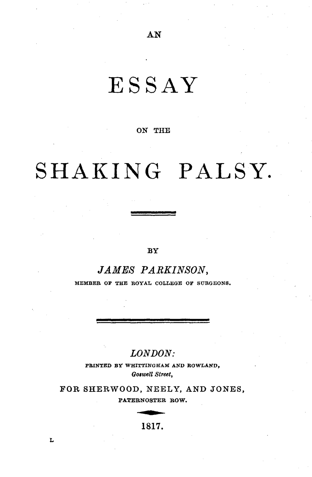 front cover of an essay