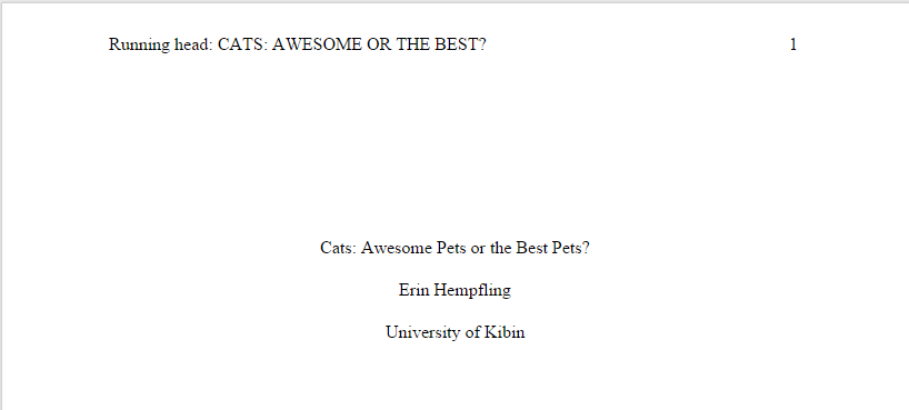 Title for apa research paperr, please?