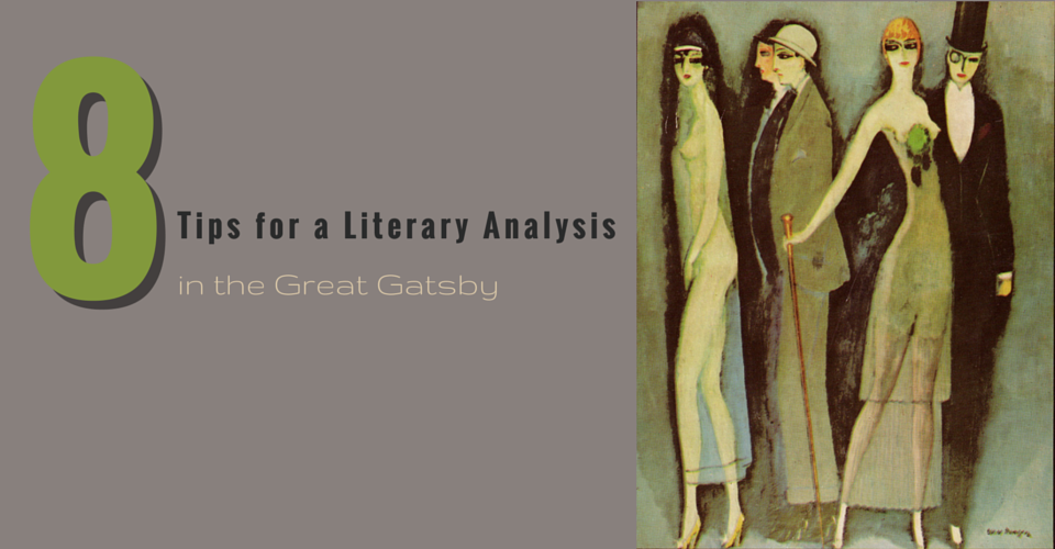 literary essay on great gatsby Throughout the great gatsby, f scott fitzgerald makes use of numerous literary devices he uses them to convey deeper meanings of his novel as well as to make the text more interesting.