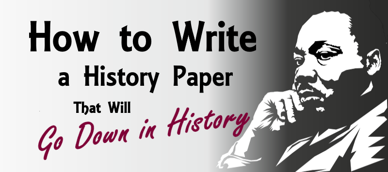 History how to write an esey