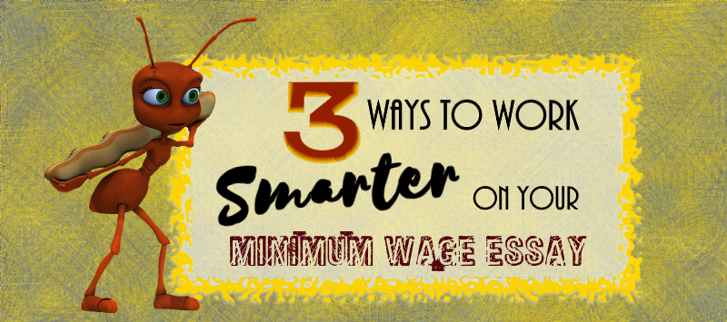 minimum wage essay Not sure where to start on your minimum wage essay don't write at the last  minute with no direction follow these 3 tips to work smarter on.