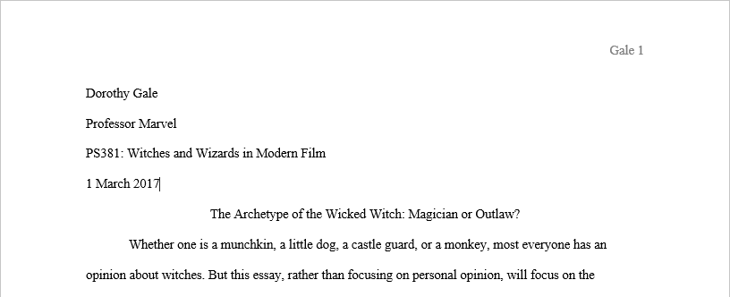 Movie titles in essays