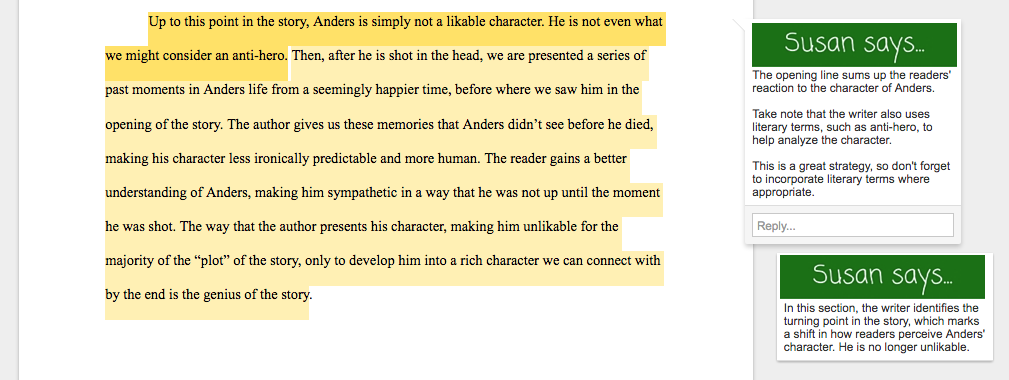 Write a good literary analysis