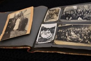 scrapbook of old photographs