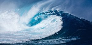 wave in the pacific ocean