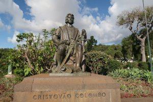 Estátua de Cristóvão Colombo in Funchal, Madeira, Portugal