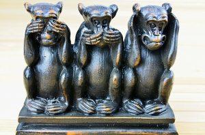 see no evil, speak no evil, hear no evil monkey sculpture