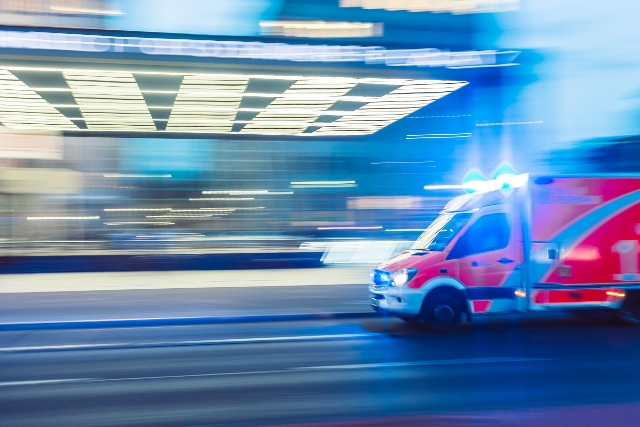 ambulance speeding to hospital